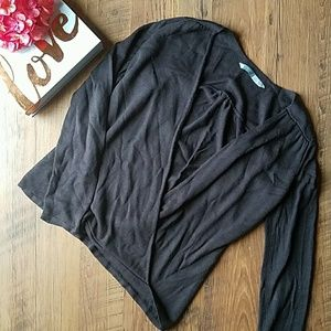 💕 Athleta Brown Wrap Front Sweater 💕